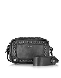 Zadig And Voltaire Extra Small Boxy Black Leather Crossbody Bag