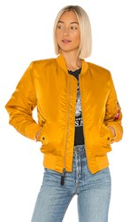 Alpha Industries Ma 1 Bomber In Mustard. Golden Yellow