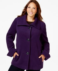 Jm Collection Woman Jm Collection Plus Size Wing Collar Jacket Only At Macy's Purple Pizazz