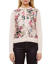 Ted Baker Blossom Jacquard Cardigan Nude Pink