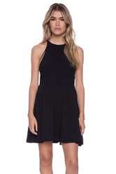 Autograph Addison Burton Halter Fit Flare Dress Black