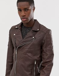 Bolongaro Trevor Quilted Real Leather Jacket Brown
