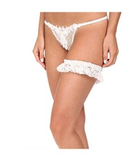 Only Hearts Club Chelsea Net G String 9919 Lady Jane Garter White Women's Underwear