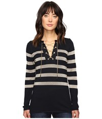 Michael Michael Kors Laced Chain Tunic New Navy Women's Blouse