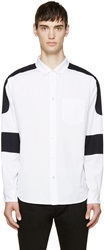 Marc By Marc Jacobs White Colorblocked Oxford Shirt