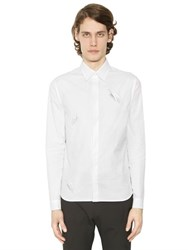 J.W.Anderson Snails Embroidered Cotton Poplin Shirt