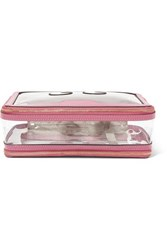 Anya Hindmarch Inflight Leather Trimmed Pvc Cosmetics Case Pink