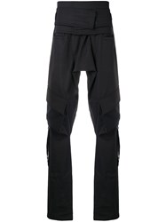 D.Gnak Loose Elongated Trousers Black