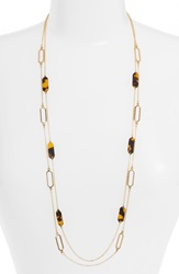 Lauren Ralph Lauren Multistrand Faux Tortoiseshell Station Necklace Set Of 2 Brown