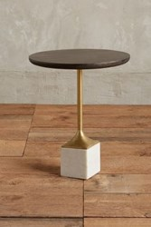 Anthropologie Pendulum Side Table Charcoal