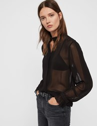 Allsaints Louise Shirt Black