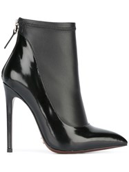 Gianni Renzi Contrast Pointed Ankle Boots Black