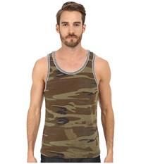 Alternative Apparel Double Ringer Tank Camo Eco Grey Men's Sleeveless Brown
