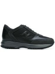 Hogan Patched Logo Sneakers Black