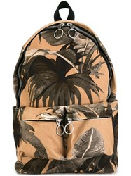 Off White Palm Print Backpack Nude And Neutrals