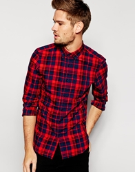 Pull And Bear Pullandbear Checked Shirt Red