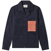 Acne Studios Omar Twill Patch Jacket Blue