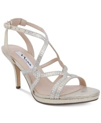 Nina Varsha Strappy Evening Sandals Women's Shoes Gold