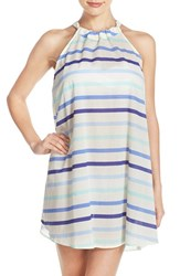 Kate Spade Women's New York Stripe Cotton Cover Up Dress Adventure Blue