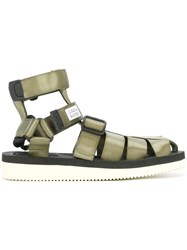 Suicoke Strappy Sandals Green