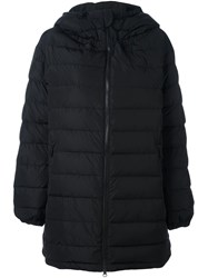 Aspesi Padded Hooded Mid Coat Black