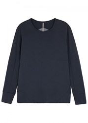 Arcteryx Veilance Arc'teryx Graph Panelled Wool Blend Sweatshirt Navy