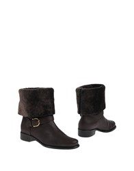 Dibrera By Paolo Zanoli Ankle Boots Dark Brown