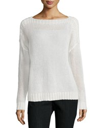 Eileen Fisher Airy Mohair Box Top Women's Soft White