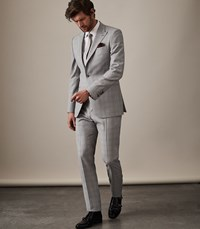 Reiss Tudor Modern Fit Suit In Soft Grey