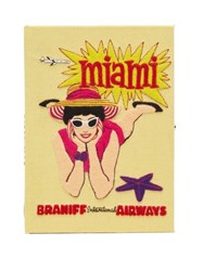Olympia Le Tan Miami Braniff Airways Embroidered Book Clutch Yellow Multi