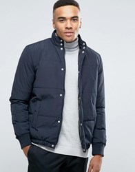 New Look Quilted Jacket In Navy Navy