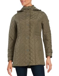 Weatherproof Plus Quilted Coat Safari Khaki