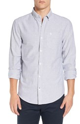 Original Penguin Men's Trim Fit Stripe Woven Shirt