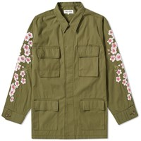 Vanquish Black By Sakura Embroidery Army Jacket Green