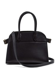 The Row Margaux 10 Leather Bag Black