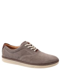 Johnston And Murphy Culling Suede Perforated Sneakers Grey