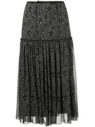 Giambattista Valli Dotted Print Skirt Black