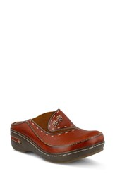 L Artiste Women's L'artiste Chino Clog Camel Leather