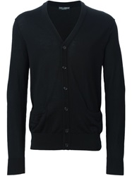 Dolce And Gabbana V Neck Cardigan Black