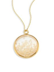 Aurelie Bidermann Fine Pearl And 18K Yellow Gold Medallion