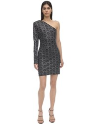Philipp Plein Crystal Embellished Jersey Mini Dress Black