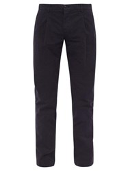 Altea Cotton Blend Chino Trousers Navy
