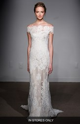 Women's Anna Maier Couture 'Gabrielle' Off The Shoulder Corded Lace Gown In Stores Only