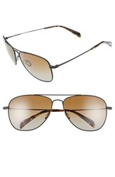 Men's Salt 'Hirschfelder' 61Mm Polarized Sunglasses Black Sand Brown