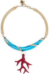 Rosantica Bolle Gold Tone Glass Necklace One Size