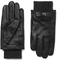 Dents Buxton Touchscreen Leather Gloves Black