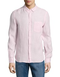 French Connection Striped Linen Shirt Sure Pink