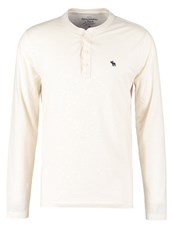 Abercrombie And Fitch Long Sleeved Top Cream Off White