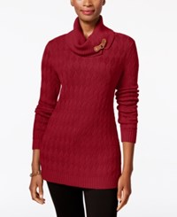 Charter Club Turtleneck Sweater Only At Macy's New Red Amore