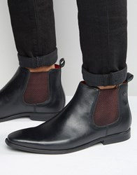 Base London William Leather Chelsea Boots Black